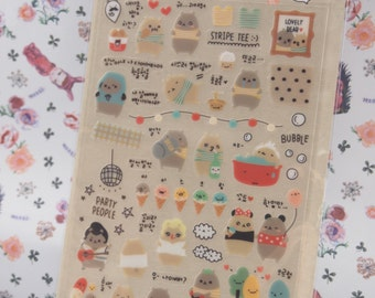 1 Sheet Zoo Stickers Kids Cartoon Toys 3D DIY Diary Scrapbooking Stationery FJ