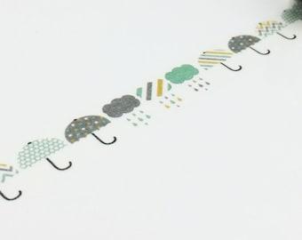 Umberlla Raining Washi Tape (10M)