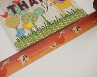Egret Bird Washi Tape (10M)