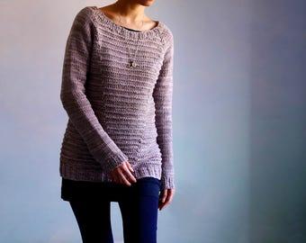 knitting pattern PDF: Sidewalk top down pullover