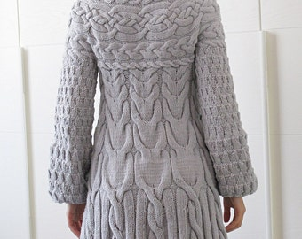 Knitting Pattern: Minimissimi Sweater Coat pattern PDF