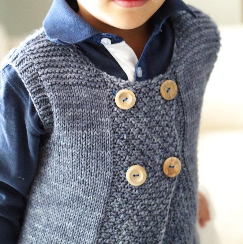 Knitting pattern pdf: Flip baby vest toddler vest kids ...