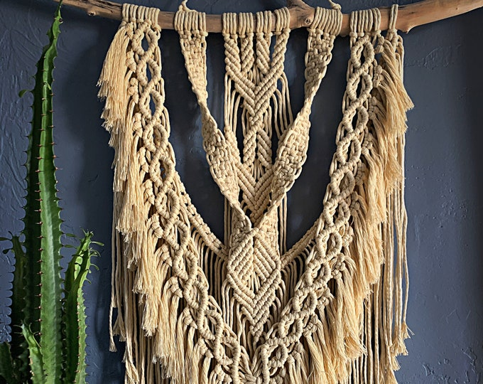 Featured listing image: Scuba Macrame Wall Hanging