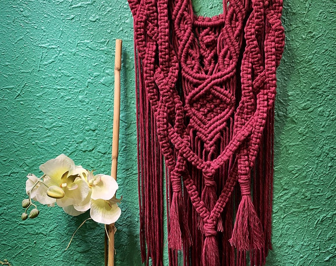Featured listing image: Braided Macrame Wall Hanging