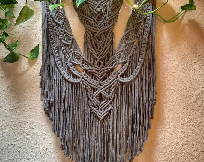 Featured listing image: Taupe Macrame Wall Hanging