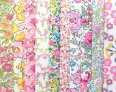 10 Liberty Tana Lawn fabric PIECES - each minimum 5 39 39 x 5 39 39 - 39 SPRING BLOSSOM 39 2