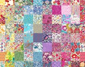 40 Liberty Lawn fabric 2.5 39 39 Patchwork Mini Charm Squares - 39 LUCKY DIP 39 - all different