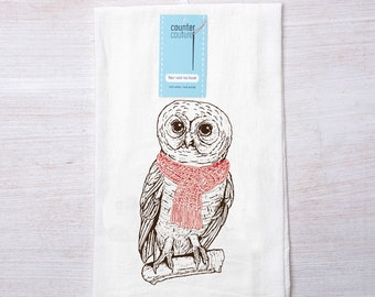 Owl Lovers Gift Set Twisted Anchor Set of 2 Fall Autumn Owl Kitchen Towels