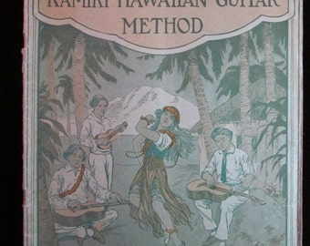 "Vintage 1926 ""Kamiki Hawaiian Guitar Method"" Sheet Music"