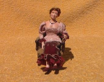 Dollhouse miniature doll