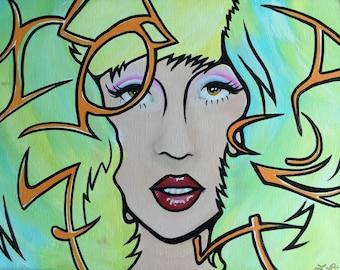 Lady Gaga 11x14 Acrylic on Canvas