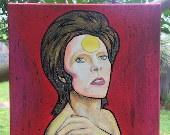 David Bowie - 10x10 Acrylic on Canvas