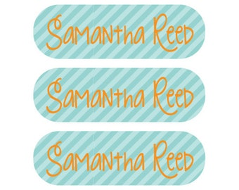 Laundry care tag labels - Washing machine and dryer safe - 115 Personalized Labels