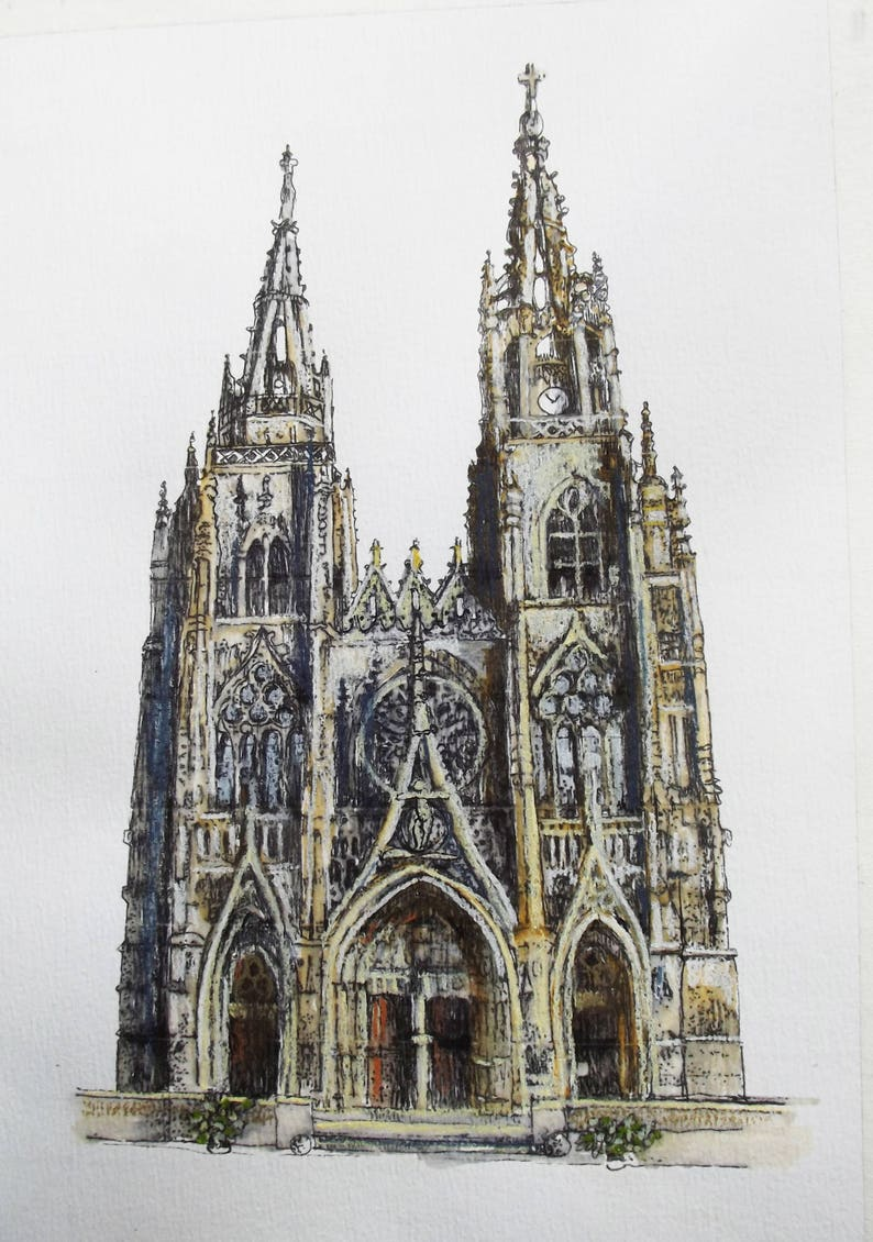 e38e726ffd7aa Notre Dame Cathedral Rouen France Print From Original