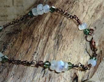 Morning Dew Moosnstone Bracelet