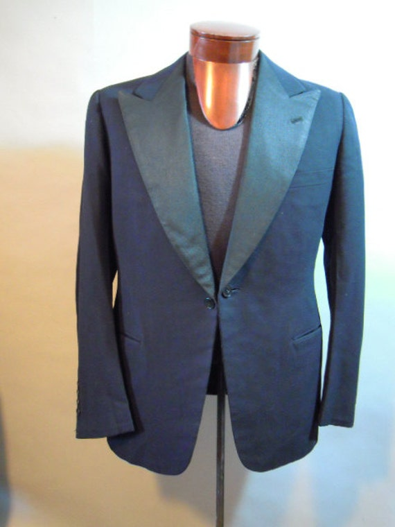 SALE***Vintage, 1940s Tux Jacket // B. BERNARD // Black Wool // Satin Lining // Formal // Prom...Med/lg