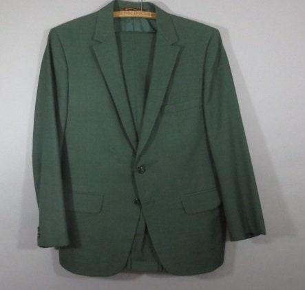 1960s – 70s Men's Ties | Skinny Ties, Slim Ties Vintage 1960s Mens Suit, Botany 500 By Daroff Label, Union Made. Green Wool Gabardine, Very Good Condition, Pants Waist 36 $13.00 AT vintagedancer.com