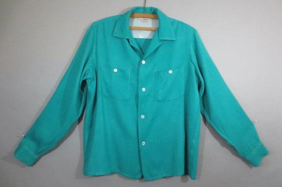 Vintage 1950's Rayon Gabardine Shirt, PENNEY'S Tow