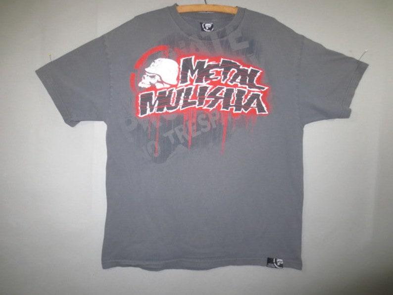 0164c1b6aac6e METAL MULISHA Tee Shirt Metal Mulisha T Shirt Gray with Red