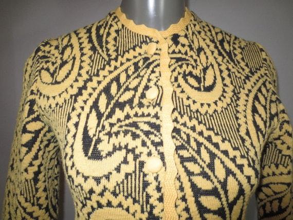 SALE***Vintage CATALINA Cardigan, Jacquard Knit, W