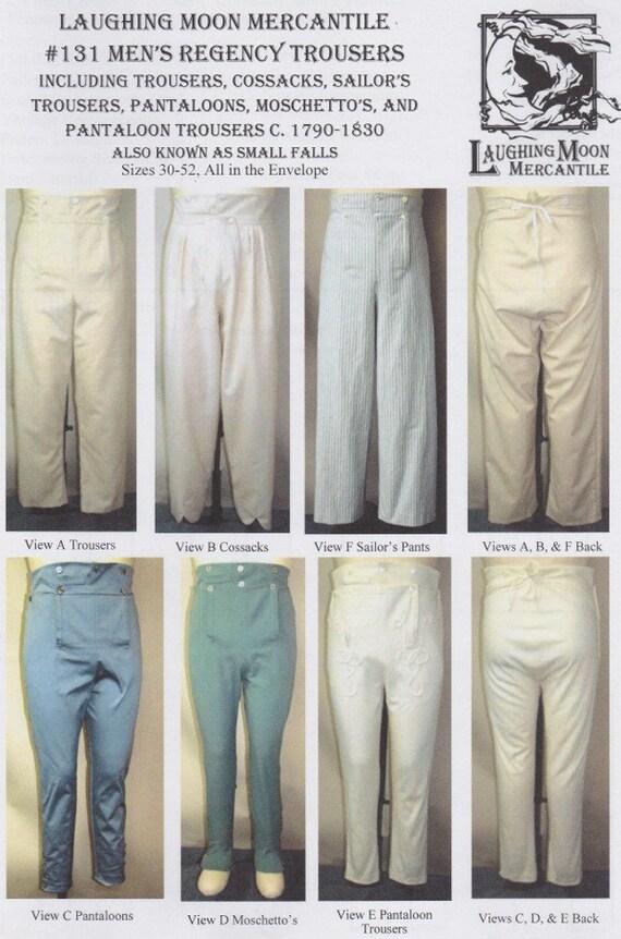 LM131 pequeño 1790-1830 hombres caer pantalones cosacos   Etsy