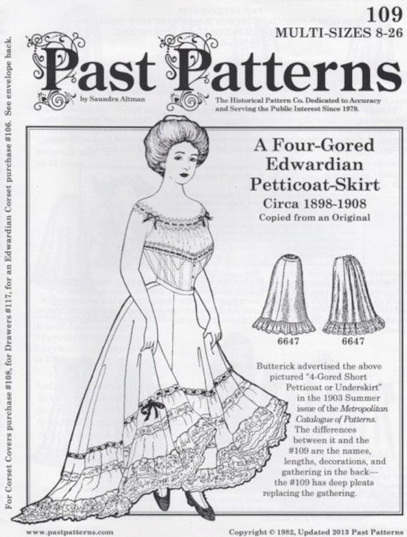 PP109 Vergangenheit Muster 109 1898 1908 vier