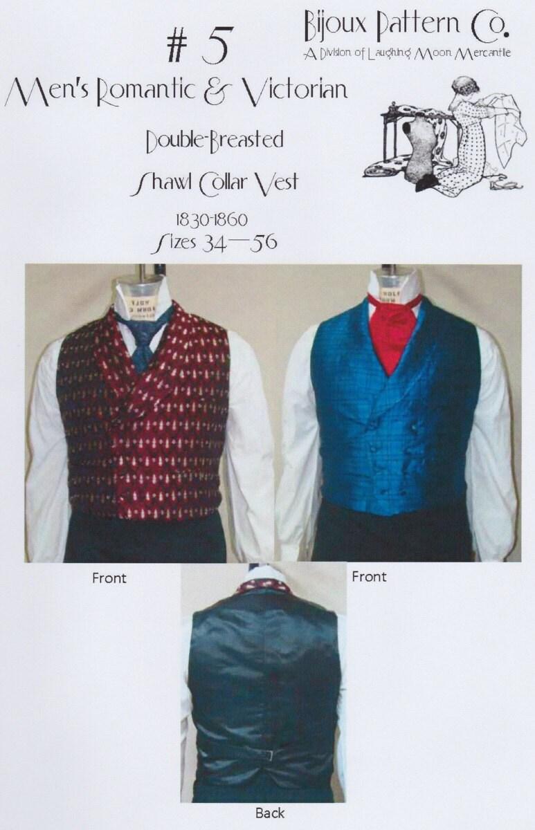 LMB05 1830-1860 hombres romántica y victoriana chal chaleco   Etsy