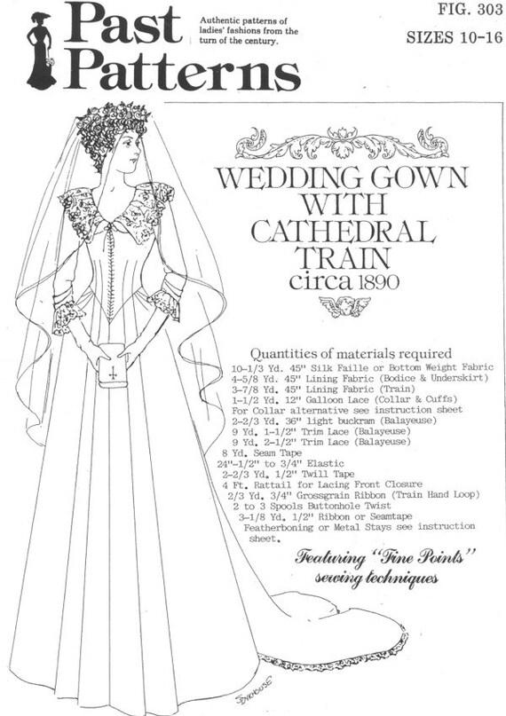 PP303 más allá de patrones 303 vestido de boda de bullicio | Etsy
