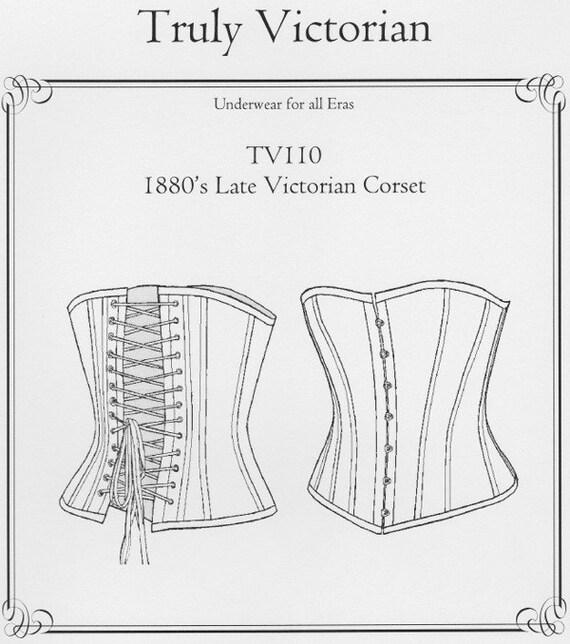 TV110 1880 finales patrón de costura Corset Victoriano por   Etsy