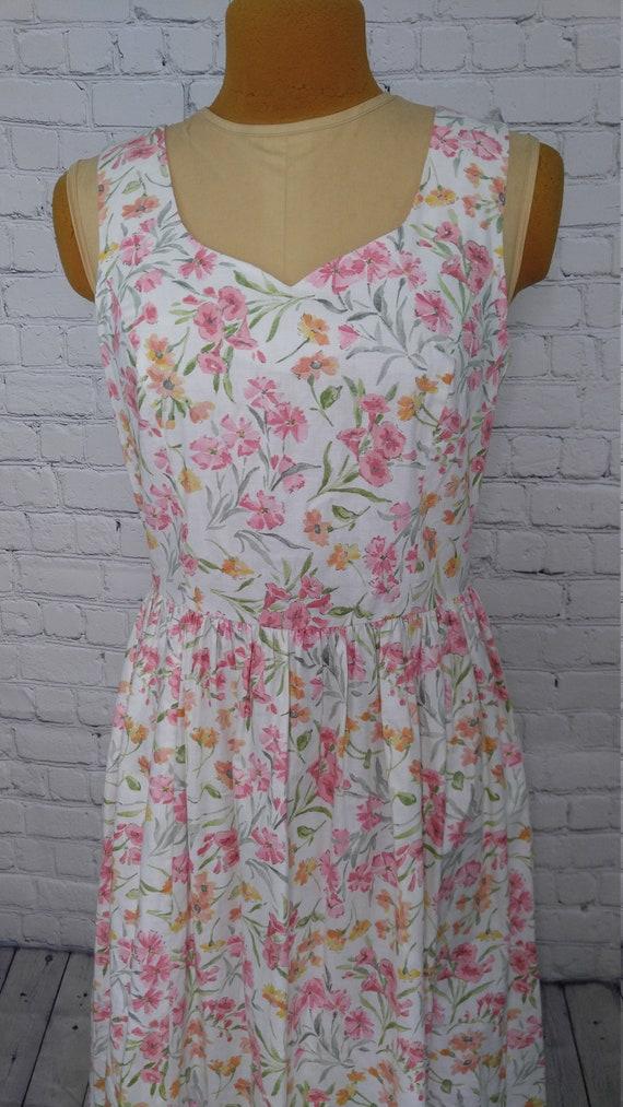 Vintage Floral Laura Ashley Dress Size 8, Vintage