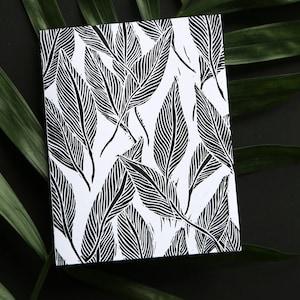 Corn /& Husk Black and White Linocut Print