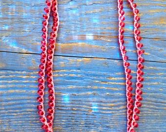 Faceted Czech Glass Necklace / Wrap bracelet