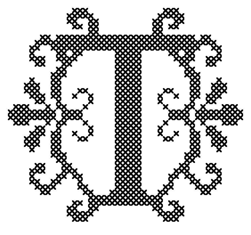 Letter T Cross Stitch Cross Stitch Monogram