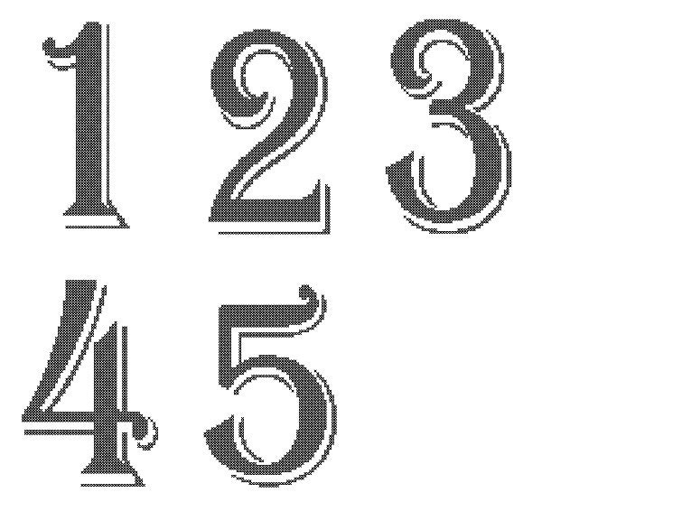 Wedding Table Numbers 1 10 Cross Stitch Pattern