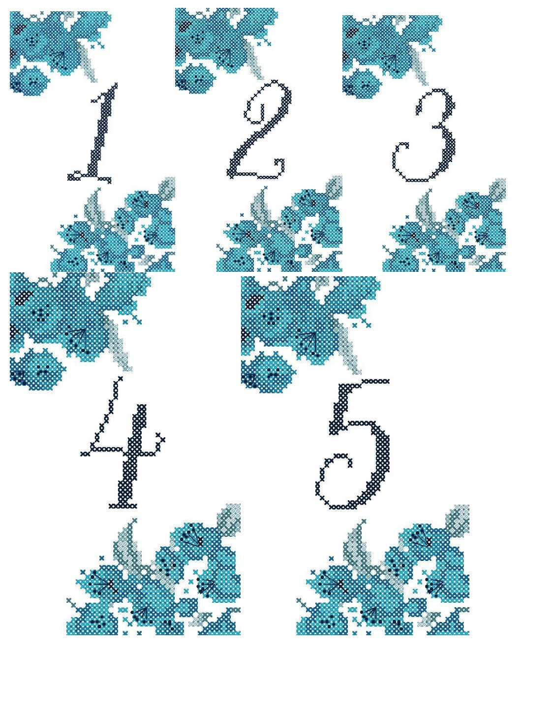 Watercolor Flowers Table Numbers 1-10 Wedding Table Number | Etsy