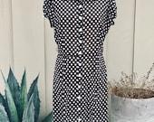 Vintage Sheer Polkadot Dress