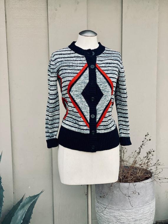 Vintage Mid Century modern Cardigan Sweater