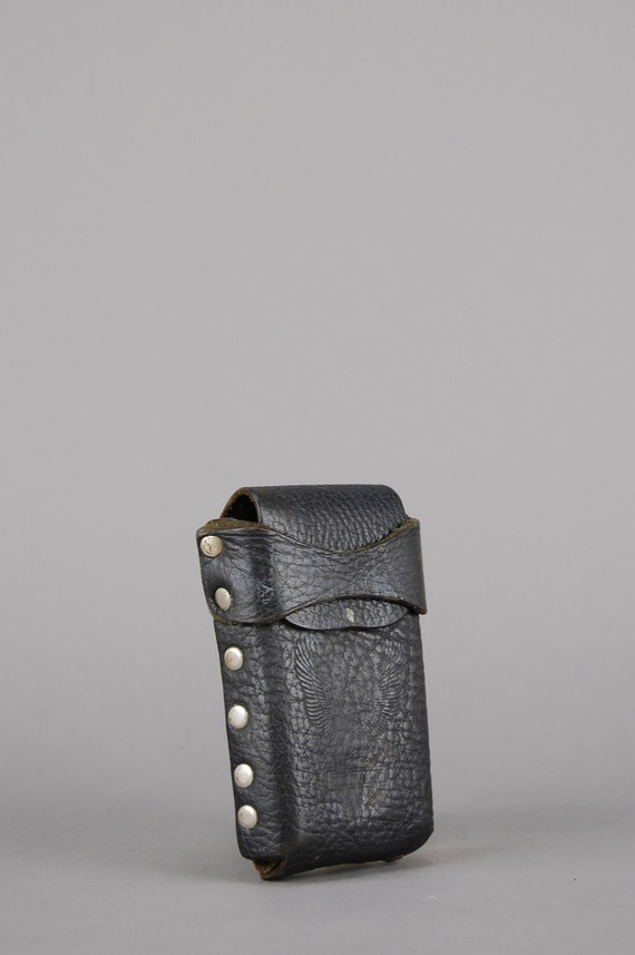 NEWHarley-Davidson black tooled leather Belt with pouch XS S or M