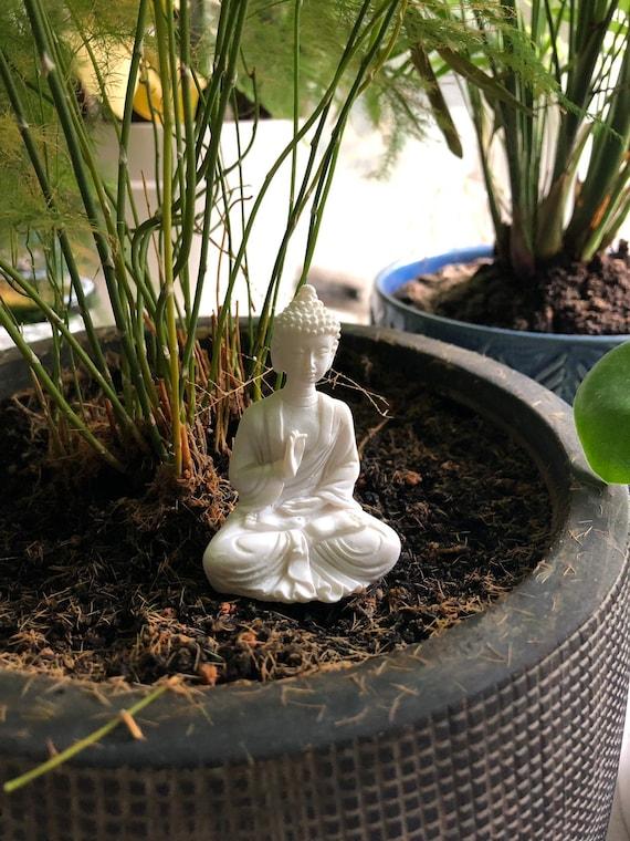 Tiny Buddha Figurine For Terrarium Mossarium Buddha Moss Etsy