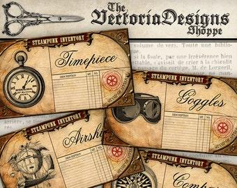 Steampunk Inventory Labels - VDLAST0988