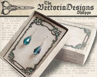 Jewelry Box printable jewelry box jewelry packaging printable box vintage diy crafting digital download digital collage sheet - VDBXVI1269