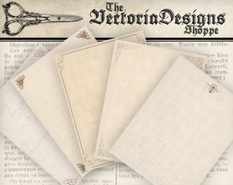 Vintage Stationery Paper, Letter Writing Paper, Printable Letter Paper, Decorative Paper, Scrapbook Paper, Letter Stationery  000817
