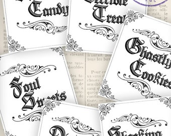 Halloween Labels, Drink Labels, Gothic Labels, Printable Labels, Apothecary Labels, Black And White Labels, Digital Halloween Labels 000944