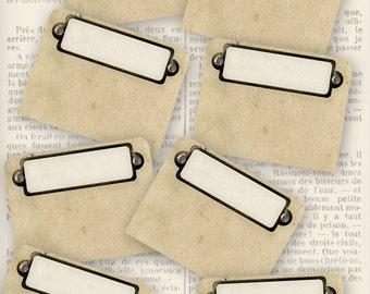 Printable Tabs organizing printable vintage style retro instant download digital download collage sheet - VDMIVI0857