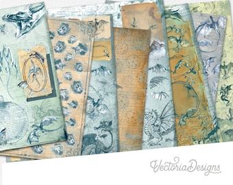 Dauntless Dragons Paper Pack, Printable Paper Pack, Digital Paper 002117