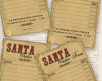 Christmas Printable, Vintage Christmas Craft, Christmas List, Christmas Order Form, Santa Wish List, Christmas Graphics, Xmas VDMICH0986