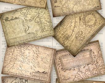 Antique Maps, Antique ATC Images, Printable Antique Maps, Digital Antique Maps, Paper Antique Maps, Vintage Map Antique, Scrapbook 000042