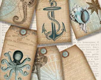Nautical Tags, Nautical Decoration, Nautical Stencils, Printable Nautical Tags, Digital Tags, Anchor Gift Tags, Scrapbook Paper 001255