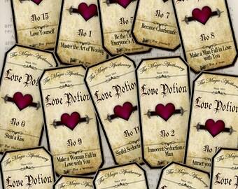 Love Potion Labels, Halloween Bottle Labels, Magic Potion Labels, Halloween Decoration, Halloween Gifts, Apothecary Labels, Boyfriend VD0209