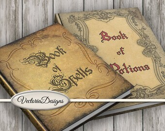 Spell Book Cover, Halloween Props, Magic Book Cover, Halloween Potion Book, Halloween Decoration, Book Of Spells, Halloween Book 001175